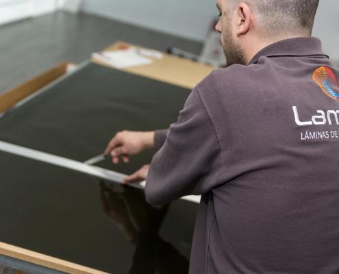 instalación láminas para cristales